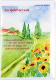 Goldhochzeitskarte - Blumen am Wegesrand
