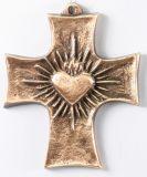 Bronzekreuz - Herz Jesu