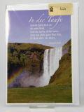 Karte zur Taufe - Wasserfall