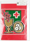 Karte zur Priesterweihe - Wein & Brot