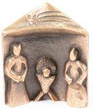Bronzekrippe - Hl. Familie & Dach